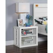 20 Tall Cargo Container Style Nightstand With Usb