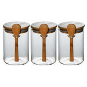 3pcs Sugar Cans Glass Practical Food Containers Dried Fruit Bottles