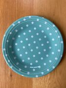 Fiesta ®️ Turquoise Blue Dinner Plate White Polka Dot Hlcca 2020 Exclusive