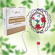 Gardens And Goldfinch Wind Spinners 12 Inch Outdoor Metal Yard Art Gift Solar Win