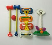 Vintage 1984 Fisher Price 692 Happy Hoops Croquet W/box Toys