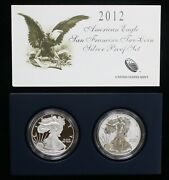 2012-s American Silver Eagle Two Coin Silver Proof Set Ogp - 09830