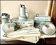 Vintage Broncolor Flash Lighting Canons And 2 Power Supply Units S-700 Photo Equip