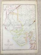 Antique Map India Scinde Gujarat State Old Hand Coloured 19th Century