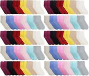 Yacht And Smith Women Fuzzy Socks Warm Butter Soft 9-11 60 Pairs Solid Gripper