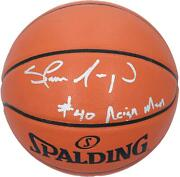 Shawn Kemp Seattle Supersonics Signed Spalding Basketball And Reign Man Insc