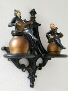 Rare Vintage Syroco Wood Mid Century Harlequin Jester French Wall Hanging Décor