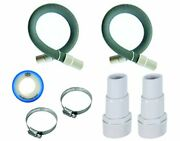 Fibropool Professional 1 1/2 Swimming Pool Filter Hose Replacement Kit 9 Fee...