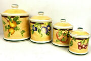 Jay Import Company Cookie Biscotti Jar Ceramic Plum Canisters