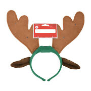 Holiday Time Adult Light-up Reindeer Antler/ears Headband - One Size Fits Most