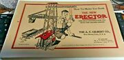 Vhtf C1938 10 1/2 A.c. Gilbert Erector Set W/fold Out Welcome To Erectorville