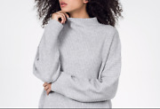 Nwt Cheap Monday Stockholm Womens Xs Rival Knit Grey Ribbed Oversized Sweater