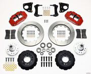 Wilwood Narrow Superlite 6r Front Hub Kit 14.00in Red 62-72 Cdp B And E Body-drum