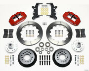 Wilwood Narrow Superlite 6r Front Hub Kit 12.88in Red For 60-68 Ford / Mercury F