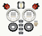 Wilwood Combination Parking Brake Rear Kit 12.88in Red For Mustang 94-04 - Wil14