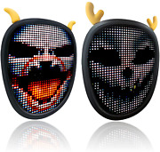 Led Mask With Programmable Bluetooth Mask Full Color Led Mask For Halloween