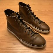 Frye Mens Gates Brown High Leather Sneakers Shoes Size 11.5