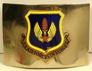 Usaf Air Forces In Europe Usafe Belt Buckle Insignia Badge Crest Full Color