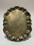 Vtg F.b.rogers Silver Co.1883 Silverplate Footed Serving Tray 14.5 X 11.5