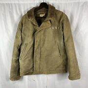 Original Wwii Us Navy N-1 Deck Jacket Painted Army Over The Usn Size 40