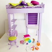American Girl Doll Mckenna's Loft Bed With Accessories - Great Condition