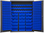 Durham Ssc-227-nl-5295 Cabinet With 227 Blue Bins And Flush Doors 60x24x78