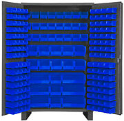 Durham Jc-171-5295 Cabinet With 171 Blue Bins And 6 Legs 48x2478
