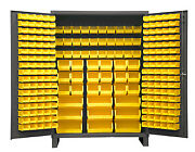 Durham Ssc-227-95 Cabinet With 227 Yellow Bins And 6 Legs 60x24x84
