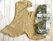 Lot Of 3 New Us Army Issue Antiflash Flame Fire Resistant Hood Balaclava One Sz