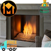 Majestic Courtyard Outdoor Gas Fireplace 36 Stainless Steel Contemporary Glass