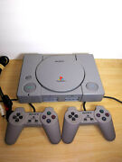Sony Playstation 1 Flagship Console. 2 Remote + 2 Memory Cards, Great Condition