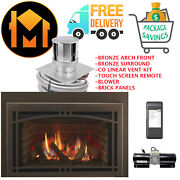 Majestic Ruby 25 Insert Fireplace Comlete Package Vent Kit Panels Bronze Arch