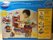 Vtech Helping Heroes Fire Station Playset With Two Firefighters New