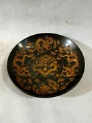 Chinese Copper Gilt Handmade Exquisite Dragon Plates 18596
