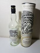 Game Of Thrones House Targaryen Cardhu Empty Whisky Bottle And Box Limited Edition