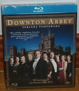 Downton Abbey 3 First Season Complete 3 Blu-ray New Slipcover No Open R2