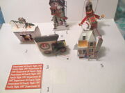 Lot/6 Dept 56 5 Pop Up,3-d Cards Christmas Ornaments And 1 Invite-staff/corp Buyer