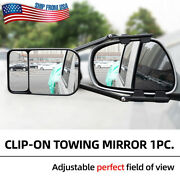 Car Extension Tow Mirror Blind Spot Trailer Rv Safe Clip-on Towing Side Glass