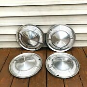 Vintage Set Of Four Ford Hubcap Chrome 13 Classic Car Vintage Wheel Covers