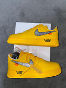 Nike Air Force 1 Low And03907 Off-white University Gold Size 9.5