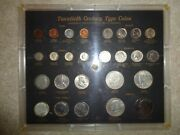 United States 20th Century Type Set 1864 Up To 1971 In Plastic Holder - 26 Coins