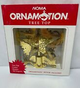 Noma Ornamotion Tree Top Gold Star Christmas Tree Topper Rotates 360 Degrees New