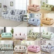 1/2/3/4 Seat Stretch Sofa Cover Floral Printed Couch Elastic Slipcover Protector