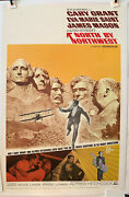 North By Northwest R66 Original U.s 1sh Movie Poster Cary Grant Hitchcock