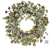 22 Frosted Berries And Leaves Wreath By Valerie