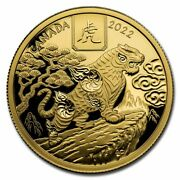 2022 Canada Gold 100 Year Of The Tiger Proof - Sku234985