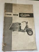 Rare Cushman Motor Vehicles Scooter Package Stake Side Kar 20 Page Owners Manual