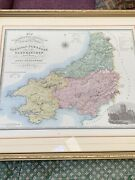 Map Of Wales By Greenwood And Co London 1834 Vintage Antique
