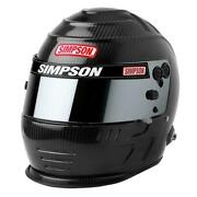Simpson Carbon Speedway Shark Helmet Snell Sa2020pre Drilled For Hans Device