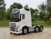 1/32 Volvo Fh16 750 Heavy Duty Truck Tractor 3-axle White Diecast Model Toy Gift